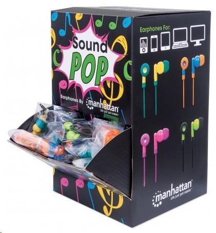 MANHATTAN Prodejní box 40x sluchátka ve 4 barvách (vhodné pro vystavení na pult)