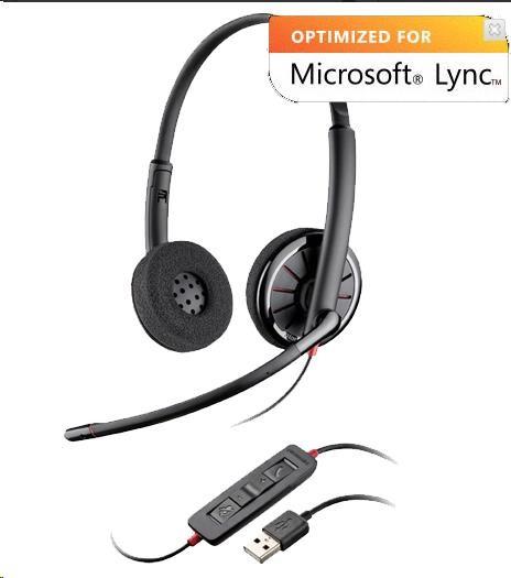 PLANTRONICS náhlavní souprava BLACKWIRE C720, USB, stereo