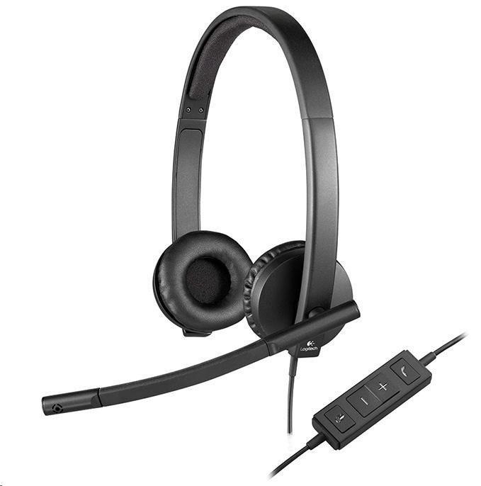 Logitech sluchátka s mikrofonem Headset H570e stereo, USB