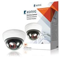 KÖNIG Atrapa CCTV kopulovité kamery s 25 IR LED - SAS-DUMMYCAM95*