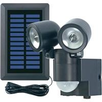 CONRAD Solární LED reflektor s PIR čidlem GEV Duo, černá