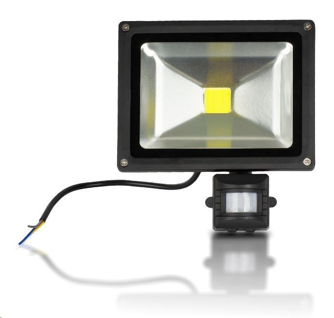 Whitenergy reflektor LED 20W, 6000K, 2000lm, IP65, detektor pohybu
