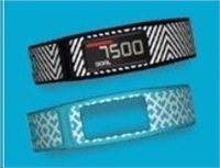 Garmin monitorovací náramek a hodinky Vívofit2 + 2 malé pásky (Bridget-Black + Nixon Square-Cyan