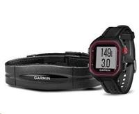 Garmin Forerunner 25, LG, Black/Red, GPS, HRM1, EU