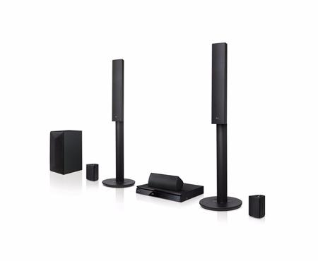 LG LHB645 Domácí kino 5.1ch, 1000W, 3D prostorový zvuk, BD/ DVD/ CD, FullHD Upscalling, HDMI výstup, USB, LAN, Bluetooth