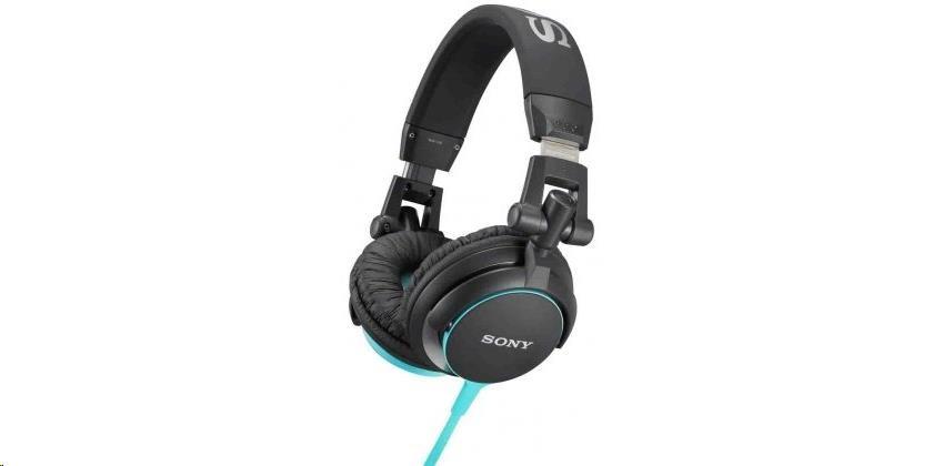 SONY stereo sluchátka MDR-V55, modrá