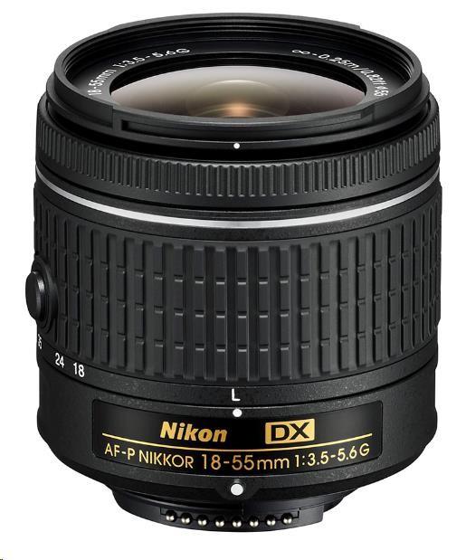 NIKON 18–55mm f/3.5–5.6G AF-P DX