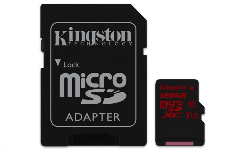 Kingston 128GB Micro SecureDigital (SDXC UHS-I)