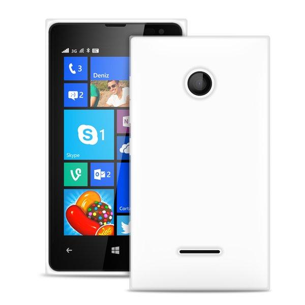 """Puro zadní kryt pro Microsoft Lumia 435/435 DS ULTRA-SLIM """"0.3"""" s fólií na displej, transparentní"""