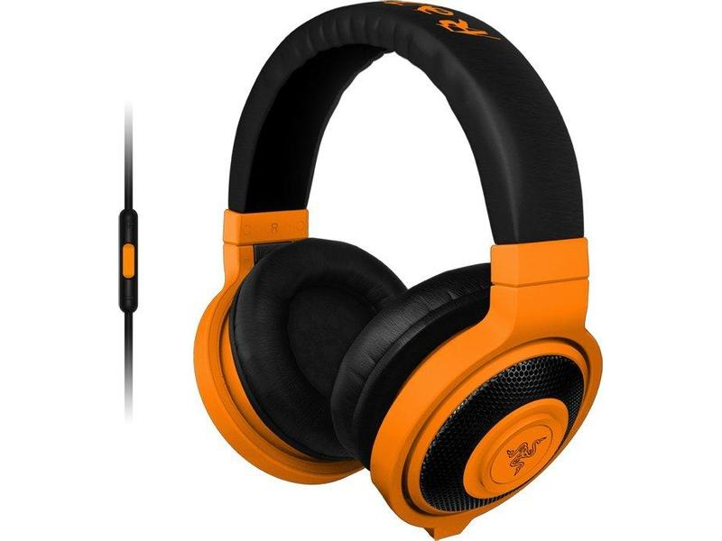 RAZER sluchátka s mikrofonem KRAKEN MOBILE Neon Orange Gaming Headset