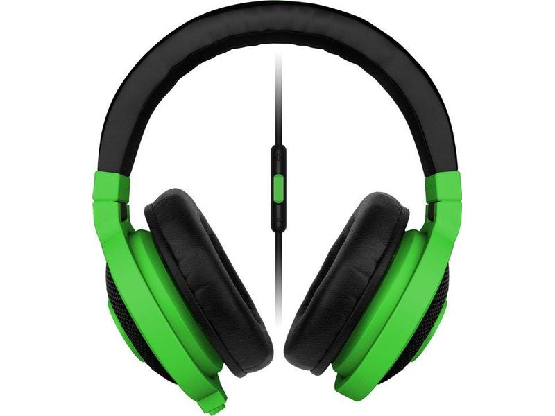 RAZER sluchátka s mikrofonem KRAKEN MOBILE Neon Green Gaming Headset