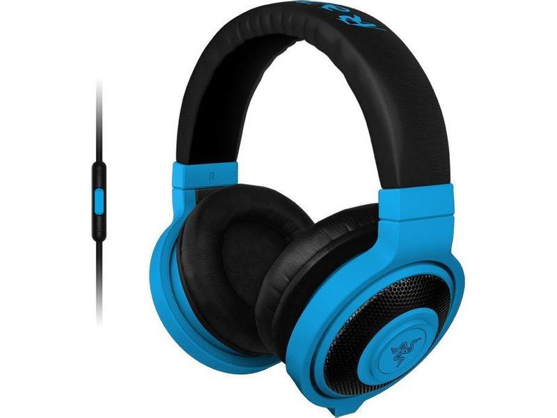 RAZER sluchátka s mikrofonem KRAKEN MOBILE Neon Blue Gaming Headset