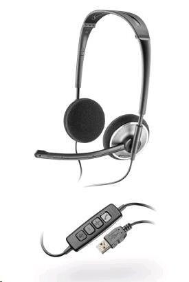 PLANTRONICS sluchátka s mikrofonem Audio 478 DSP pro PC, USB, černá
