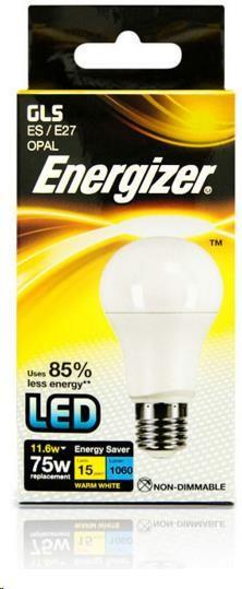 ENERGIZER LED žárovka GLS 11,6W, 1 060lm E27 (teplá bílá)