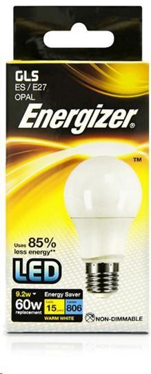 ENERGIZER LED žárovka GLS 9,2W, 806lm, E27 (tepl bílá)
