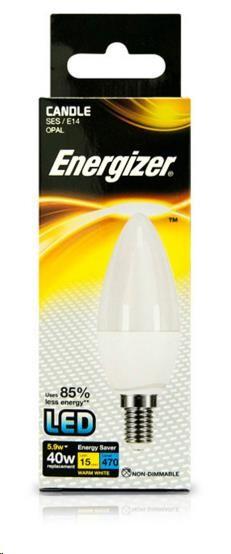 """ENERGIZER LED žárovka """"svíce"""" 5,9W, 470lm, E14 (teplá bílá)"""