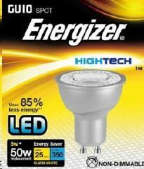 "ENERGIZER LED žárovka ""reflektorka"" 5W, 350lm, GU10 (teplá bílá)"