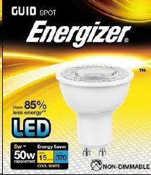 "ENERGIZER LED žárovka ""reflektorka"" 5W, 370lm, GU10 (studená bílá)"