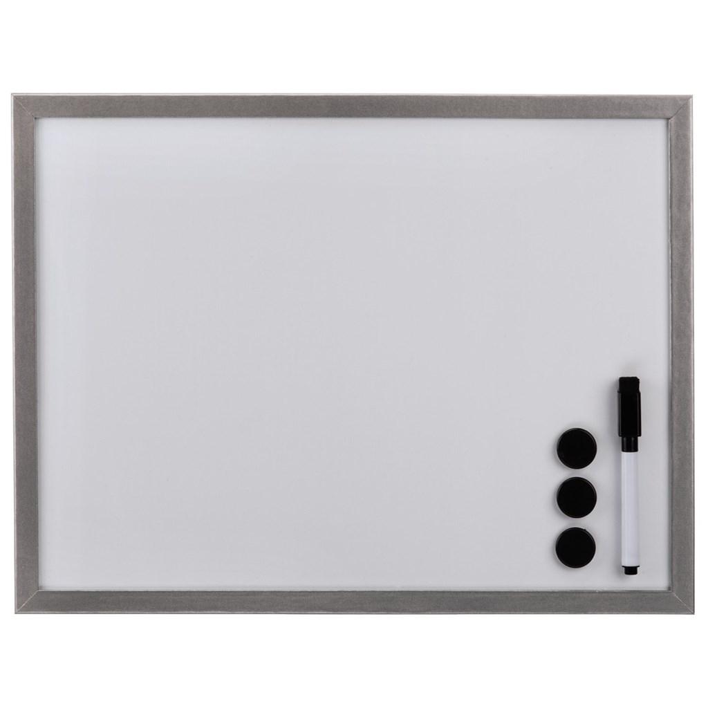 Hama bílá magnetická tabule, 40x60 cm, dřevěná, stříbrná