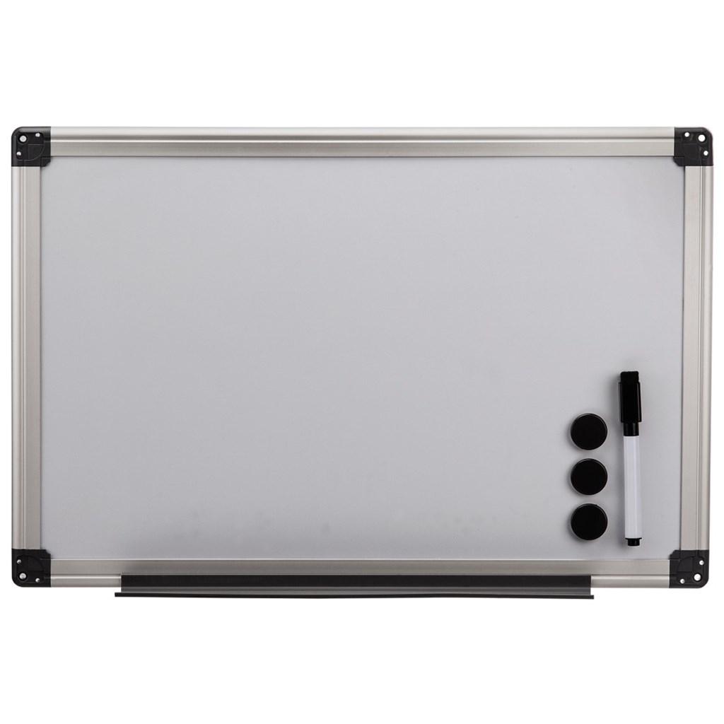 Hama bílá magnetická tabule, 60x80 cm, hliníková, stříbrná