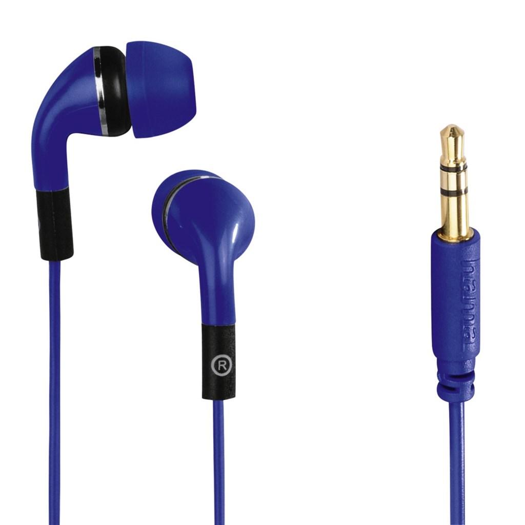 Hama sluchátka Flip, silikonové špunty, modrá