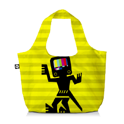 BG Berlin Eco Bag Cave Man Yellow