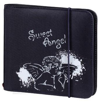 Hama up to Fashion CD/DVD Nylon Wallet 24, blue