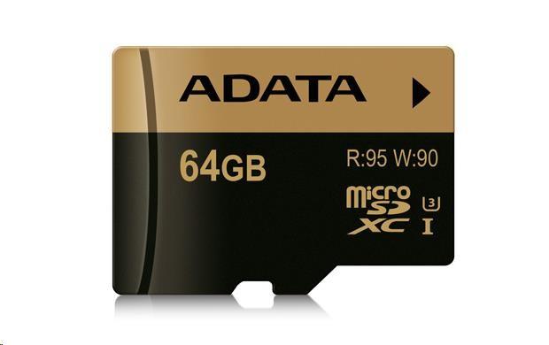 ADATA Micro SDXC karta XPG 64GB UHS-I U3