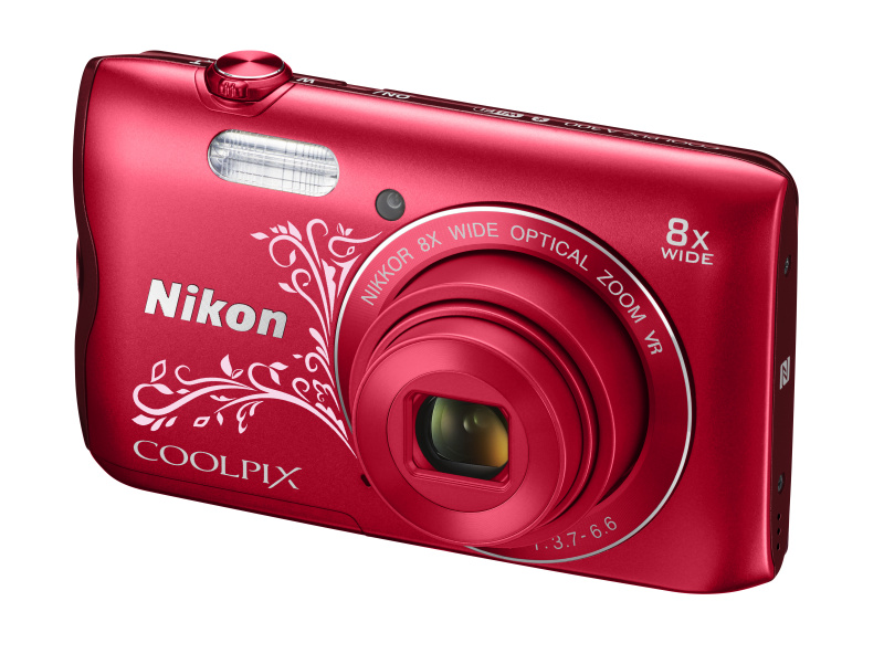 Nikon Coolpix A300 červený lineart