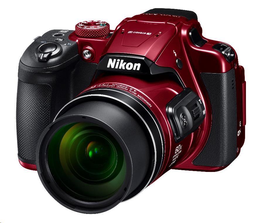 Nikon Coolpix B700, červený