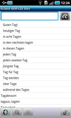 Česko<->Německá sada slovníků ECTACO pro Android OS