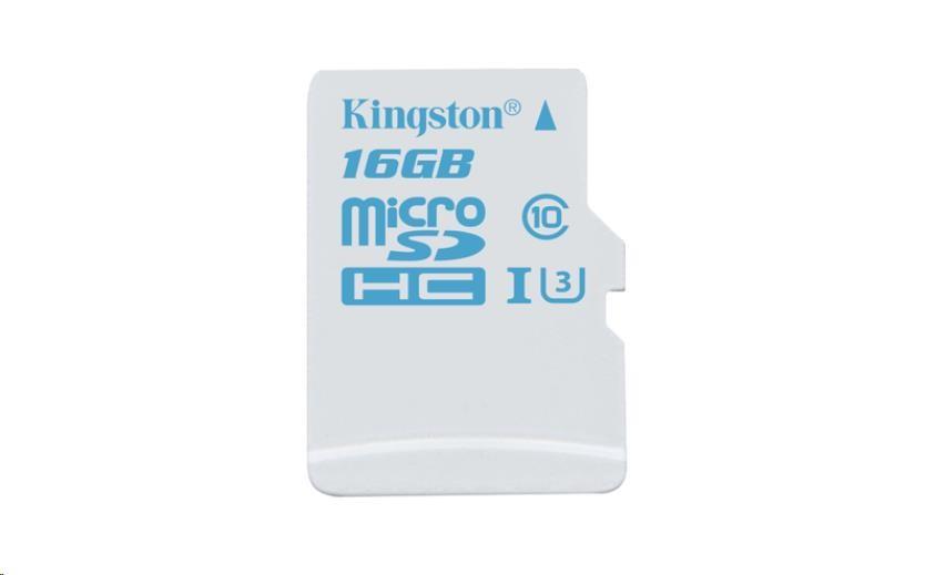 Kingston 16GB Micro SecureDigital (SDHC) Card, UHS-I U3, 90r/45w