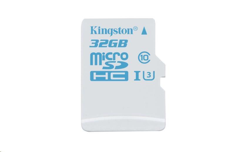 Kingston 32GB Micro SecureDigital (SDHC) Card, UHS-I U3, 90r/45w