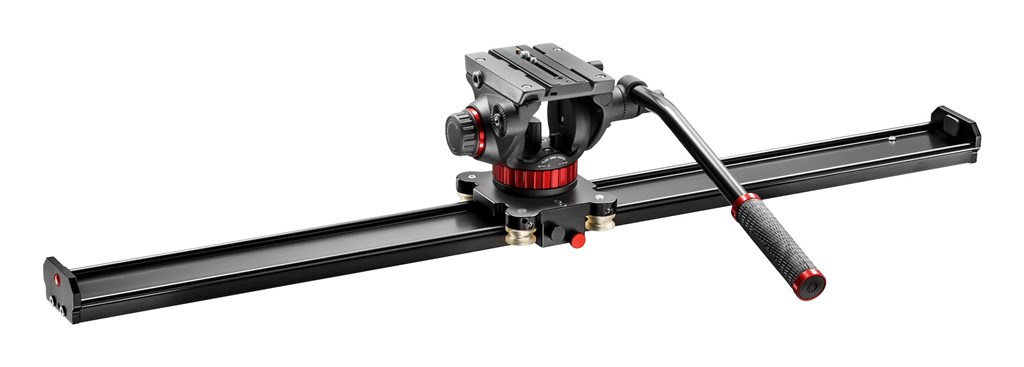 Manfrotto MVS100AMVH502AH, SET VIDEO SLIDER 100CM a VIDEO hlava 502AH