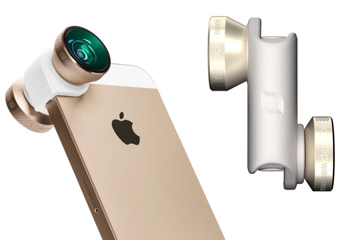 olloclip 4in1 lens system, gold/white -iPhone 5/5S