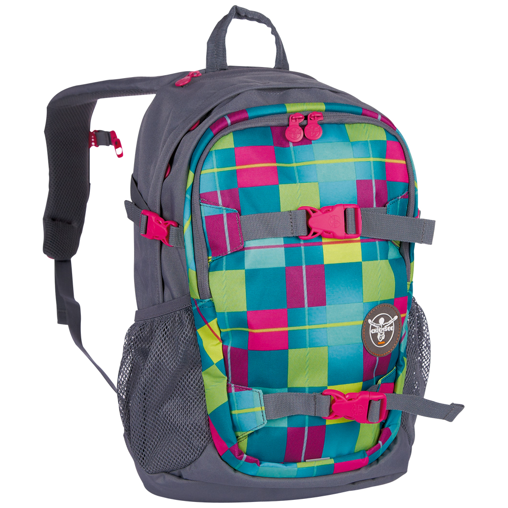 Chiemsee School backpack S16 Karo blue cabaret