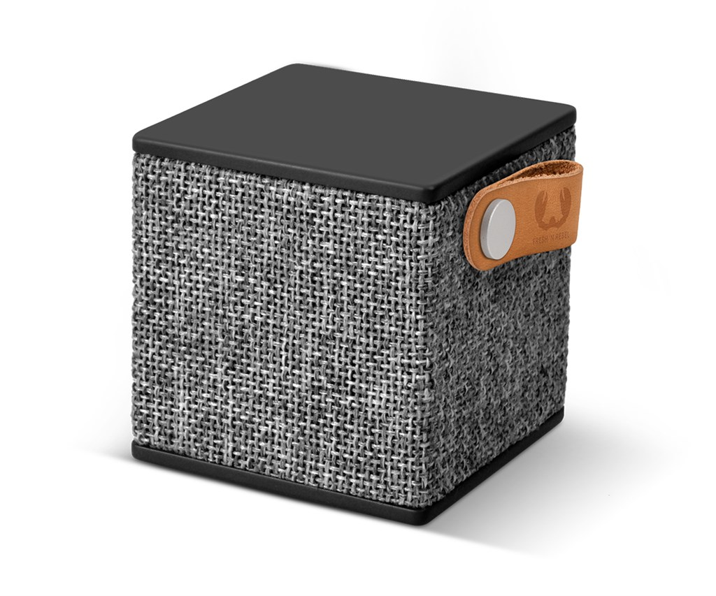 FRESH ´N REBEL Rockbox Cube Fabriq Edition Bluetooth reproduktor, Concrete, šedý