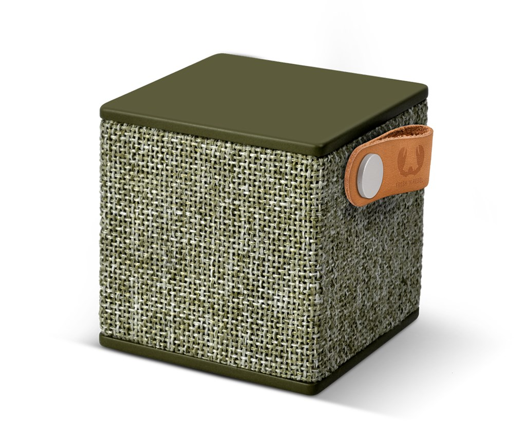 FRESH ´N REBEL Rockbox Cube Fabriq Edition Bluetooth reproduktor, Army, vojensky zelený