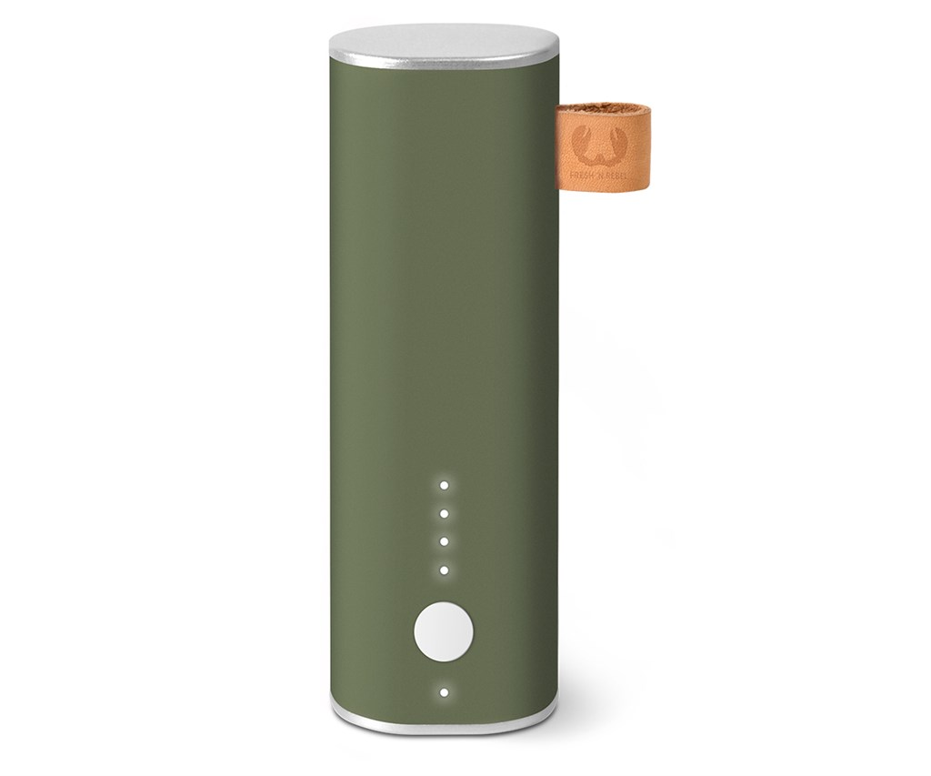 FRESH ´N REBEL Powerbank 3000 mAh, 1 A, Army, vojenská zelená