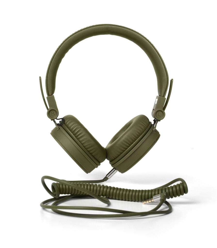 FRESH ´N REBEL Caps sluchátka, Army, vojenská zelená