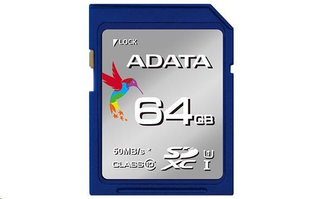 ADATA SDXC 64GB UHS-I Class 10 Premier