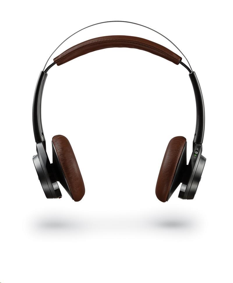 PLANTRONICS Stereo Headset Backbeat SENSE, Bluetooth v4.0+EDR, černý
