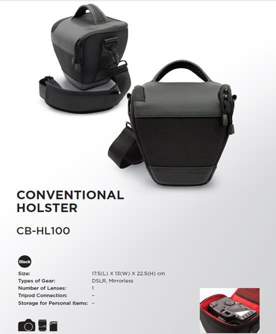 Canon HL100 pistolová brašna - černá