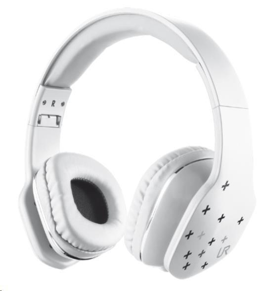 TRUST Sluchátka s mikrofonem Mobi Headphone - bílá