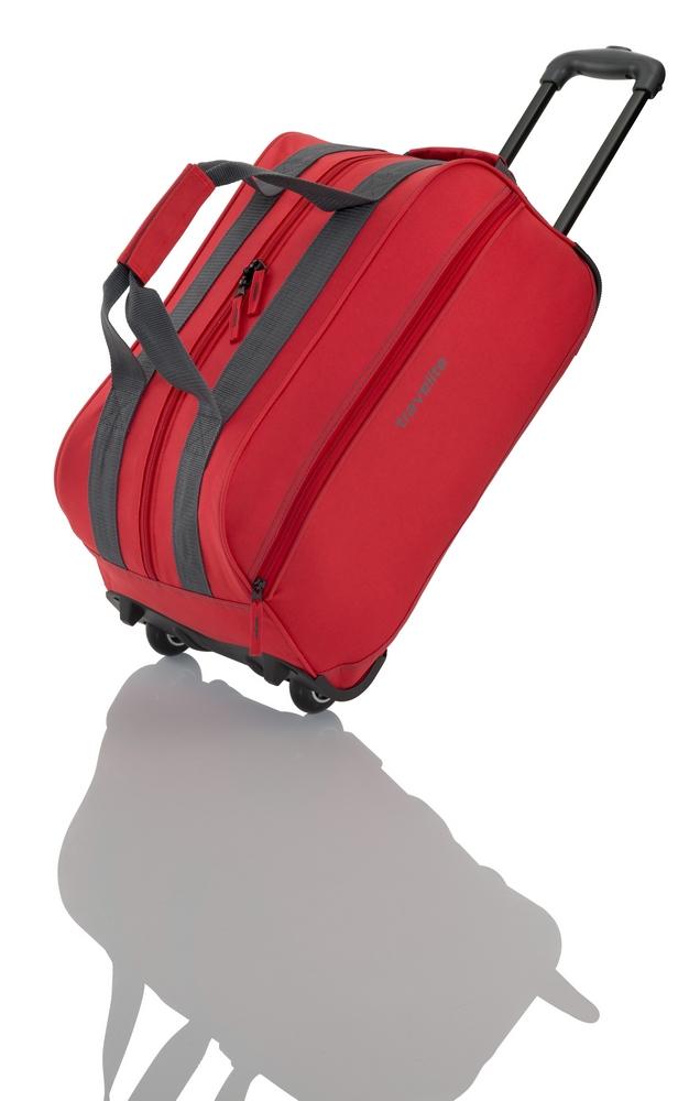 Travelite Basics Small Wheeled Duffle Red