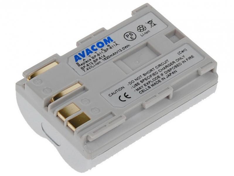 AVACOM Canon BP-511/ 512 Li-Ion 7.4V 1620mAh 12Wh stříbrná