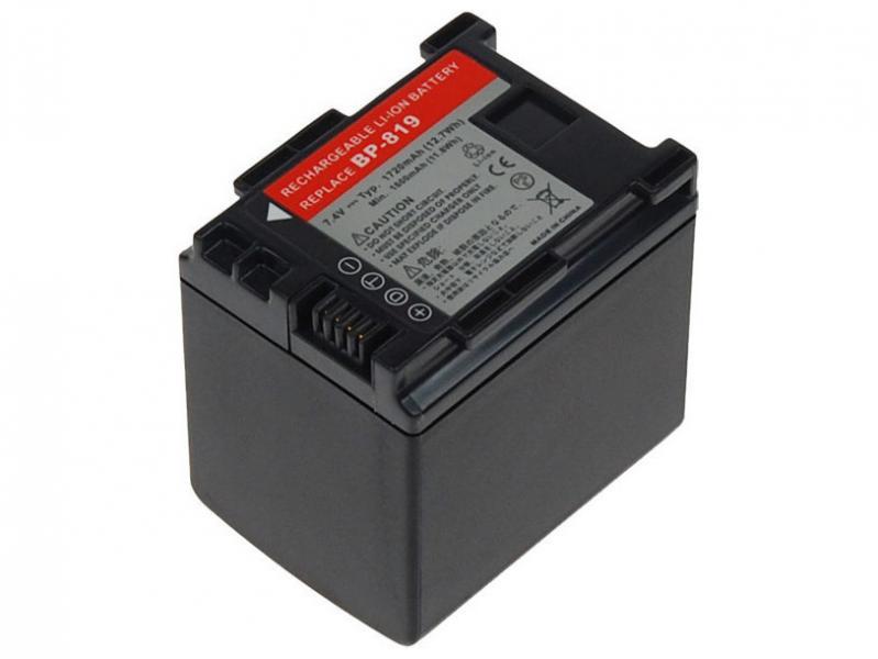 AVACOM Canon BP-809, BP-819 Li-Ion 7.4V 1720mAh 13.2Wh