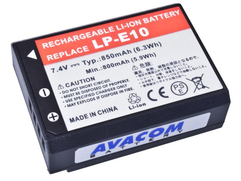 AVACOM Canon LP-E10 Li-Ion 7.4V 850mAh 6.3Wh