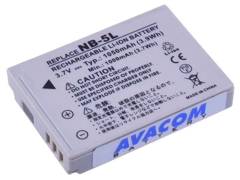 AVACOM Canon NB-5L Li-Ion 3.7V 1050mAh 3.9Wh