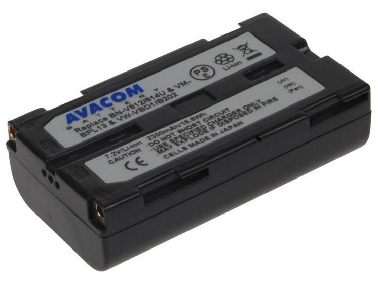 AVACOM JVC BN-V812/814U, Hitachi VM-BPL13, Panasonic VW-VBD1 Li-Ion 7.2V 2300mAh 16.6Wh